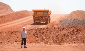 mining in queensland stock image