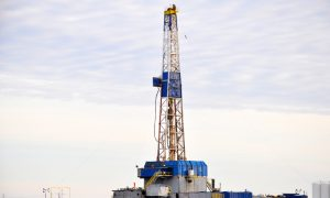 shale gas exploration stock image