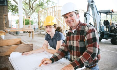 training trade construction stock image