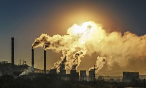 greenhouse gas stock image