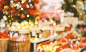 retail christmas stock image