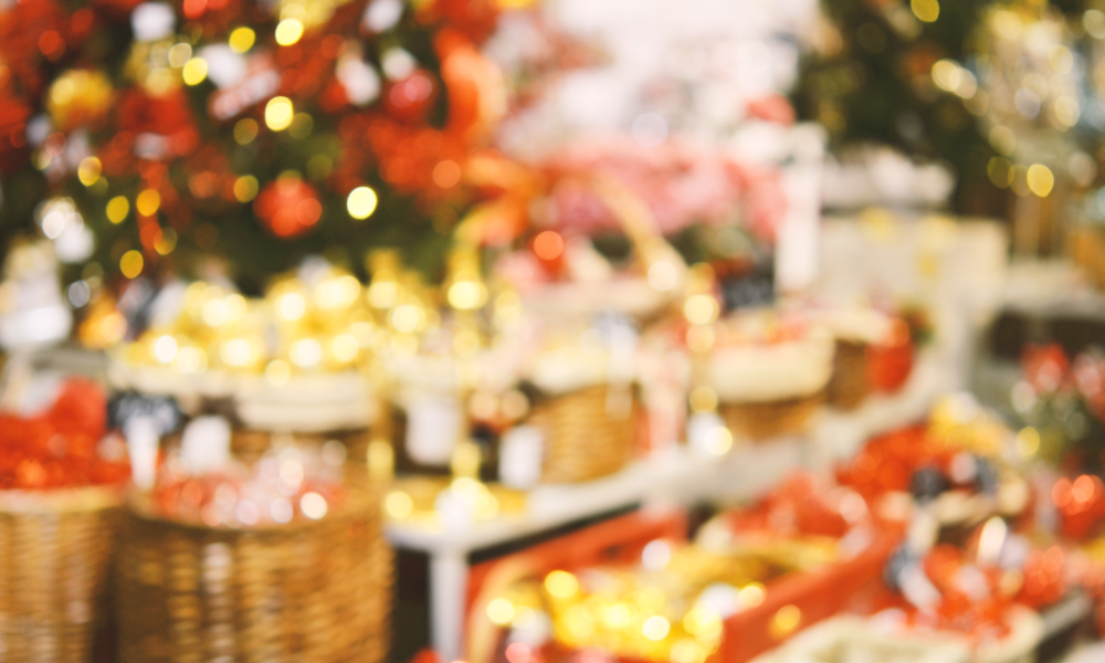 retail christmas stock image