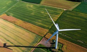 wind farm stock image
