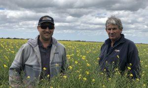 Rowan Scott (left) with Darren Scott, SMS Rural.