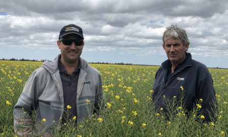 Rowan Scott (left) with Darren Scott, SMS Rural.