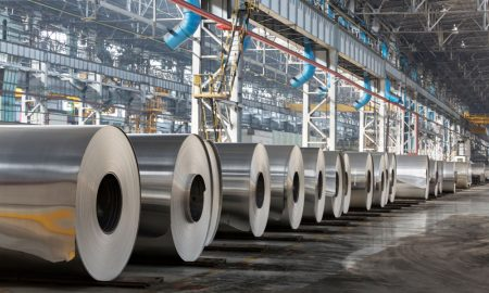steel coil stock image