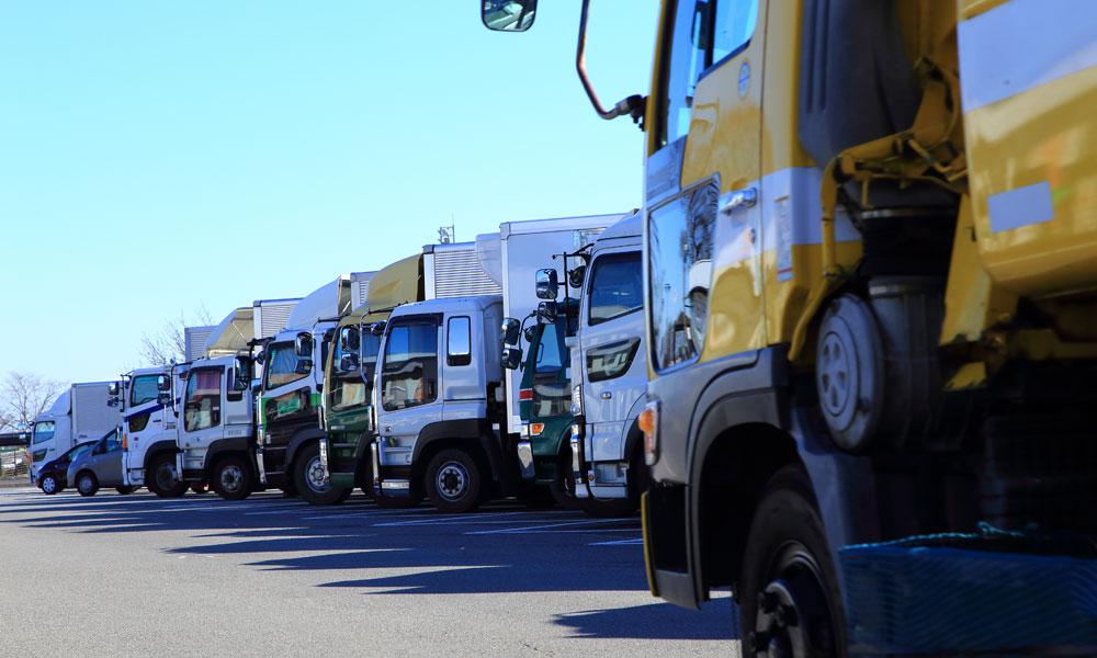 trucks stock image