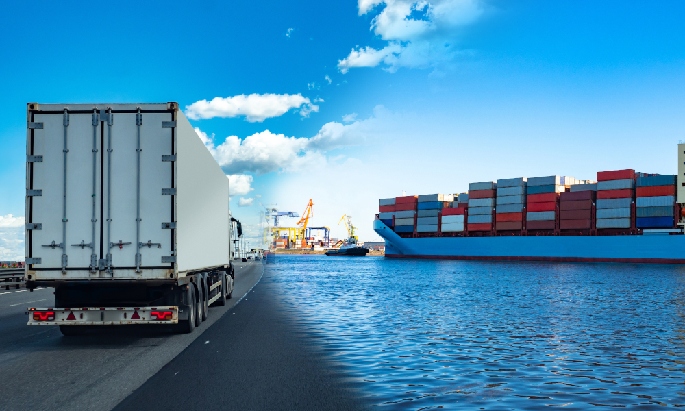 freight seafood stock image