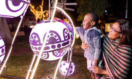 Parrtjima festival, Todd Mall, Alice springs, Australia. 28/9/2018. Photo Credit James Horan Photos Courtesy Parrtjima Australia
