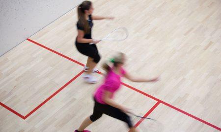 sports women squash stock image