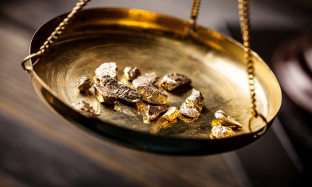 gold scales stock image