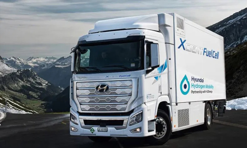 hydrogen powered truck